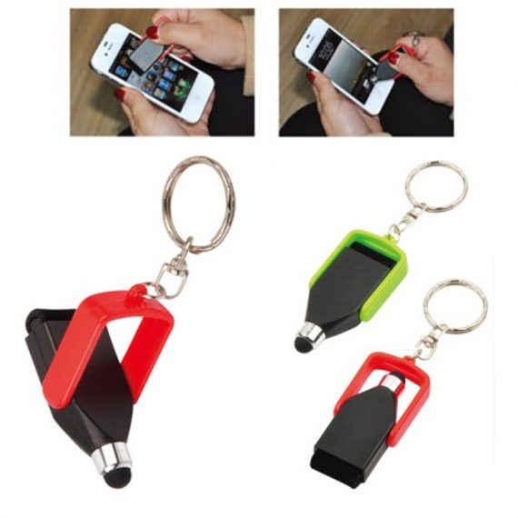 Keychain with Stylus And Cleaner