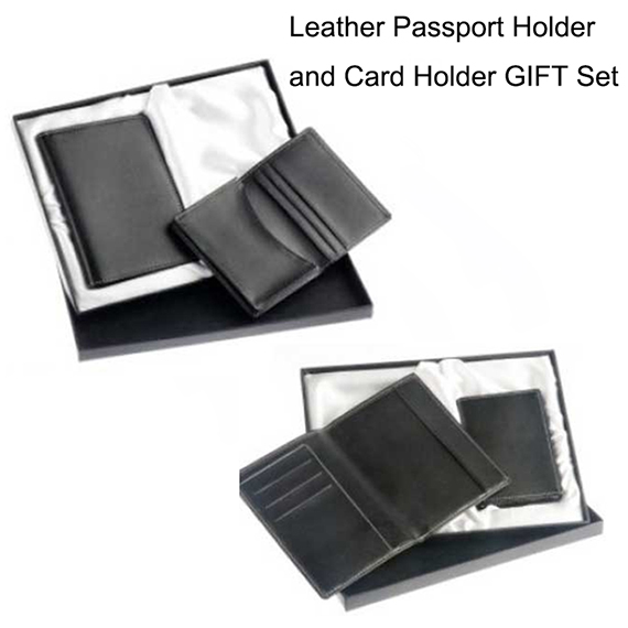Leather Holders Gift Set