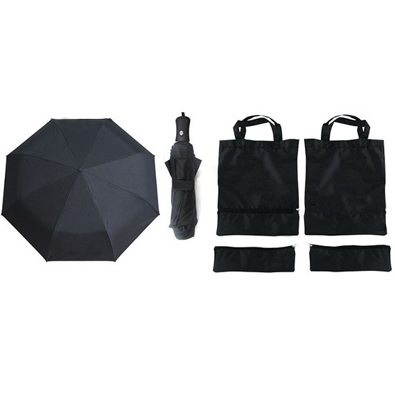 Mini Umbrella with Foldable Shopping Bag