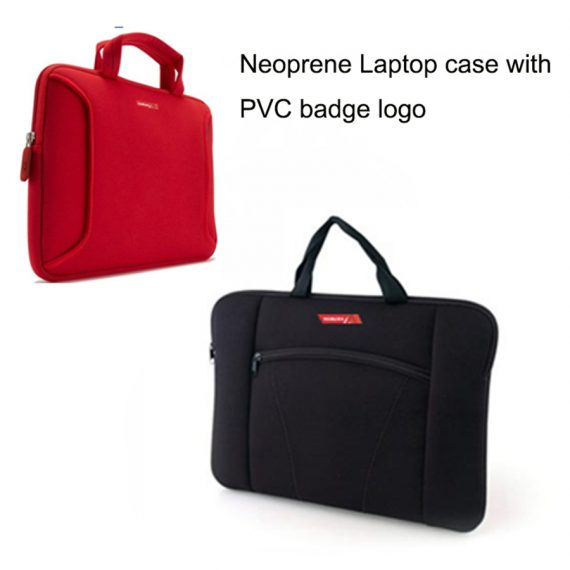 Neoprene Laptop case with PVC badge logo